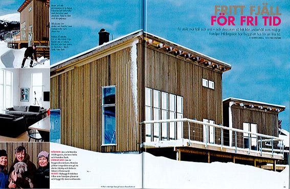 Grön Form Arkitektbyrå hus fjäll